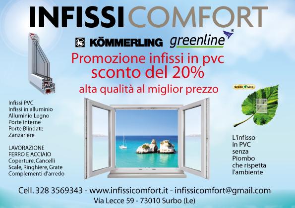 Infissicomfort promozione estate 2015
